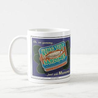 El rey Tut Sardines Mug Taza De Café