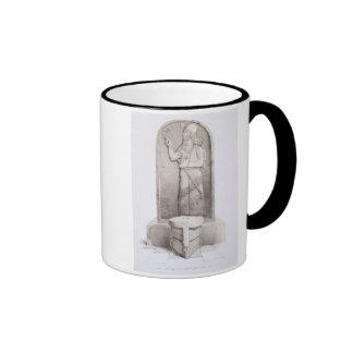 El rey y el altar sacrificatorio, Nimrud, platean Taza De Dos Colores