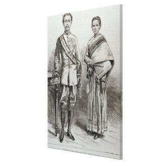 El rey y la reina de Tailandia Impresion De Lienzo