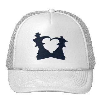 El rey y la reina están en amor gorras