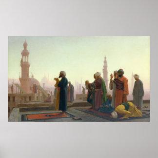 El rezo, 1865 póster
