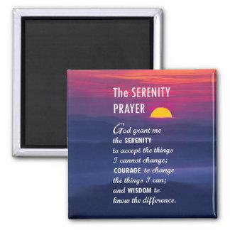 El rezo 2 de la serenidad imán cuadrado