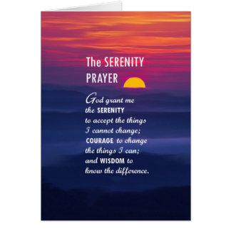 El rezo 2 de la serenidad tarjeta de felicitación