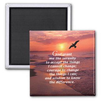 El rezo 3 de la serenidad imán cuadrado