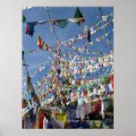 El rezo budista tibetano señala la foto por medio  posters