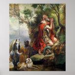El rezo de Gideon, dibujo animado para una tapicer Póster
