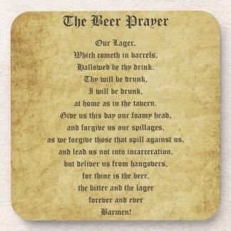 El rezo de la cerveza posavasos