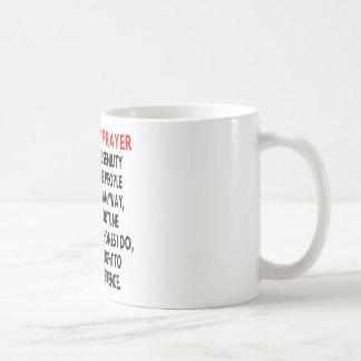 El rezo de la senilidad taza básica blanca