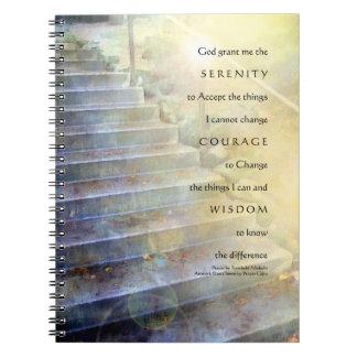 El rezo de la serenidad camina cuaderno amarillo