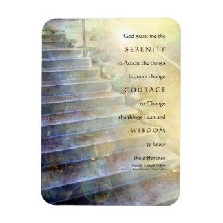 El rezo de la serenidad camina imán superior azul