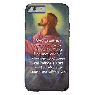 El rezo de la serenidad con la pintura del funda de iPhone 6 tough