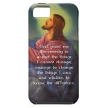 El rezo de la serenidad con la pintura del Jesucri iPhone 5 Case-Mate Cobertura