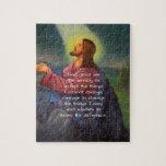El rezo de la serenidad con la pintura del Jesucri Puzzle