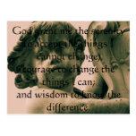 El rezo de la serenidad en la fotografía del ángel tarjetas postales