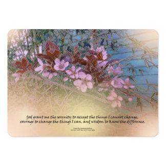 El rezo de la serenidad florece casa azul tarjetas de visita grandes