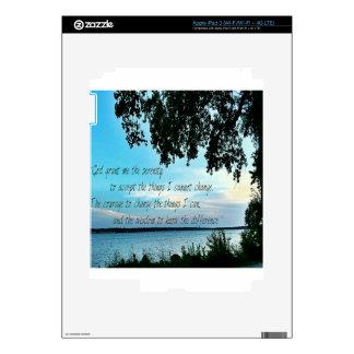 El rezo de la serenidad iPad 3 skins
