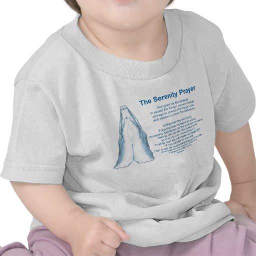 El rezo de la serenidad (manos de rogación) camiseta