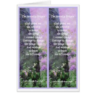 El rezo de la serenidad marca una dirección de la  tarjeta de felicitación