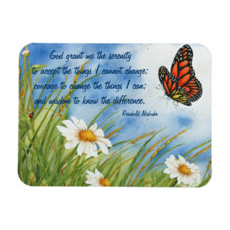 El rezo de la serenidad - mariposa de monarca - im iman de vinilo