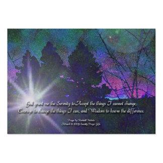 El rezo de la serenidad y dejó va dejar la tarjeta tarjetas de visita