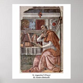 El rezo de St Augustine de Sandro Botticelli Posters