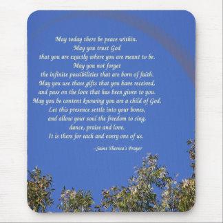El rezo de St Theresa Alfombrilla De Ratón