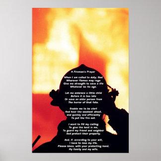 El rezo de un bombero impresiones