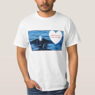 El rezo del amante de la ballena para Japón Playera