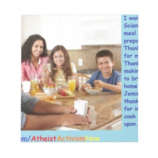 El rezo del ateo blocs de papel