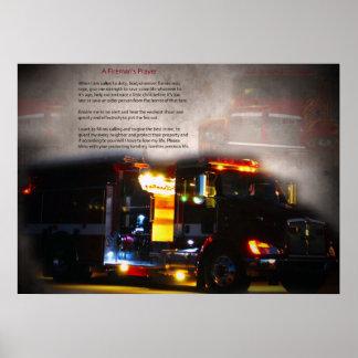 El rezo del bombero póster