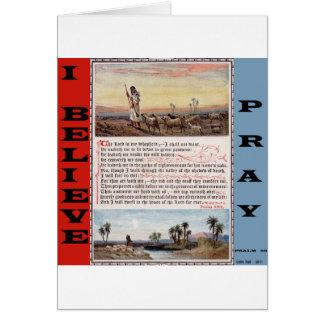 El rezo del salmo 23, el señor es mi pastor tarjeta de felicitación