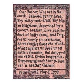 El rezo el padre del Brontës nos enseñó a la posta Postales