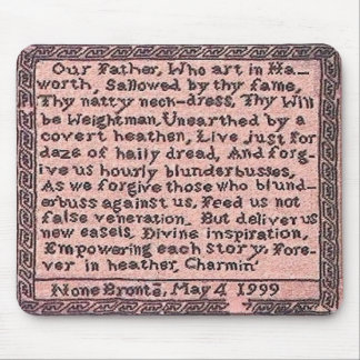 El rezo el padre del Brontës nos enseñó a Mousepad Tapete De Ratón