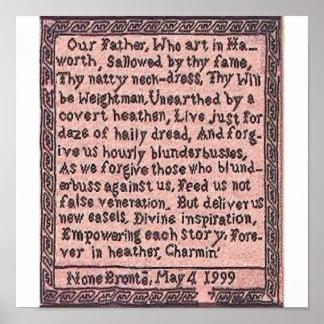 El rezo el padre del Brontës nos enseñó - al poste Poster