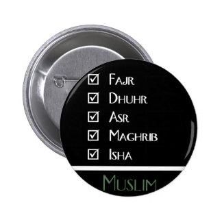 El rezo islámico - 5 veces al día - los musulmanes pins