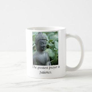 El rezo más grande es paciencia tazas de café