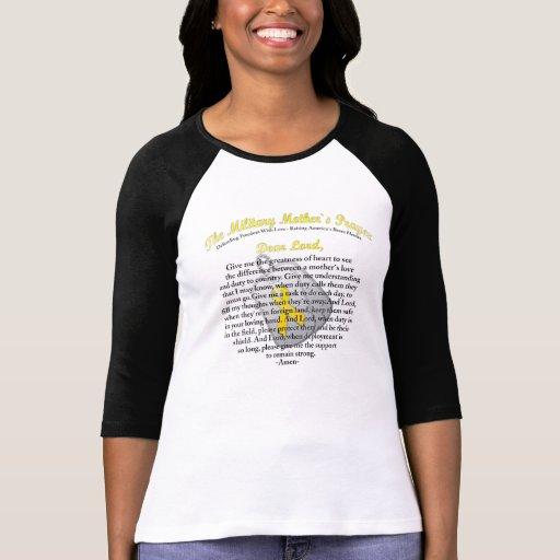El rezo militar del ` s de la madre camiseta
