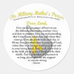 El rezo militar del ` s de la madre etiqueta redonda