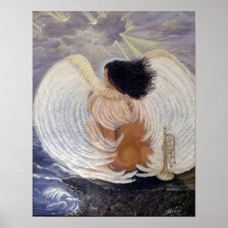 El rezo pasado para la humanidad, ángel, poster
