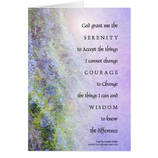 El rezo Rosemary de la serenidad Tarjetas