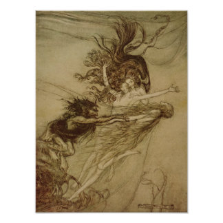 El Rhinemaidens que toma el pelo Alberich Poster