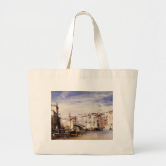 El Rialto, Venecia de Richard Parkes Bonington Bolsa Tela Grande