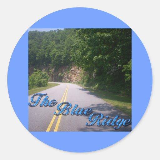 El Ridge azul Pegatina Redonda