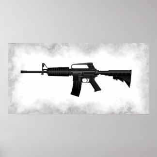 El rifle AR-15 Póster