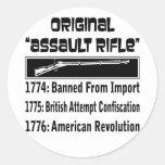 El rifle de asalto original en 1774 etiquetas