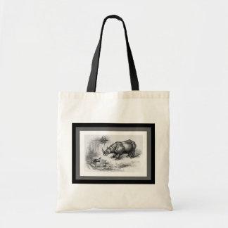 El rinoceronte y el tejón bolsas de mano