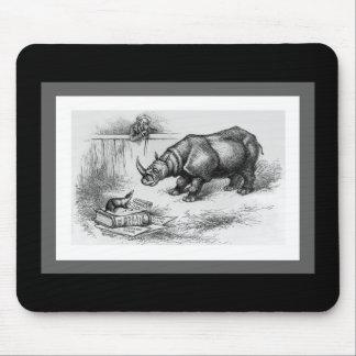 El rinoceronte y el tejón alfombrilla de raton