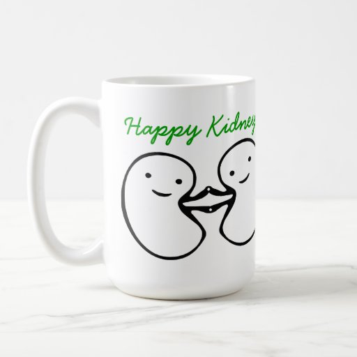 El riñón desea la taza feliz de los riñones