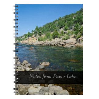 El río Arkansas en Colorado personalizó el cuadern