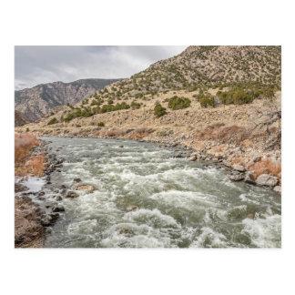 El río Arkansas en Colorado Tarjetas Postales